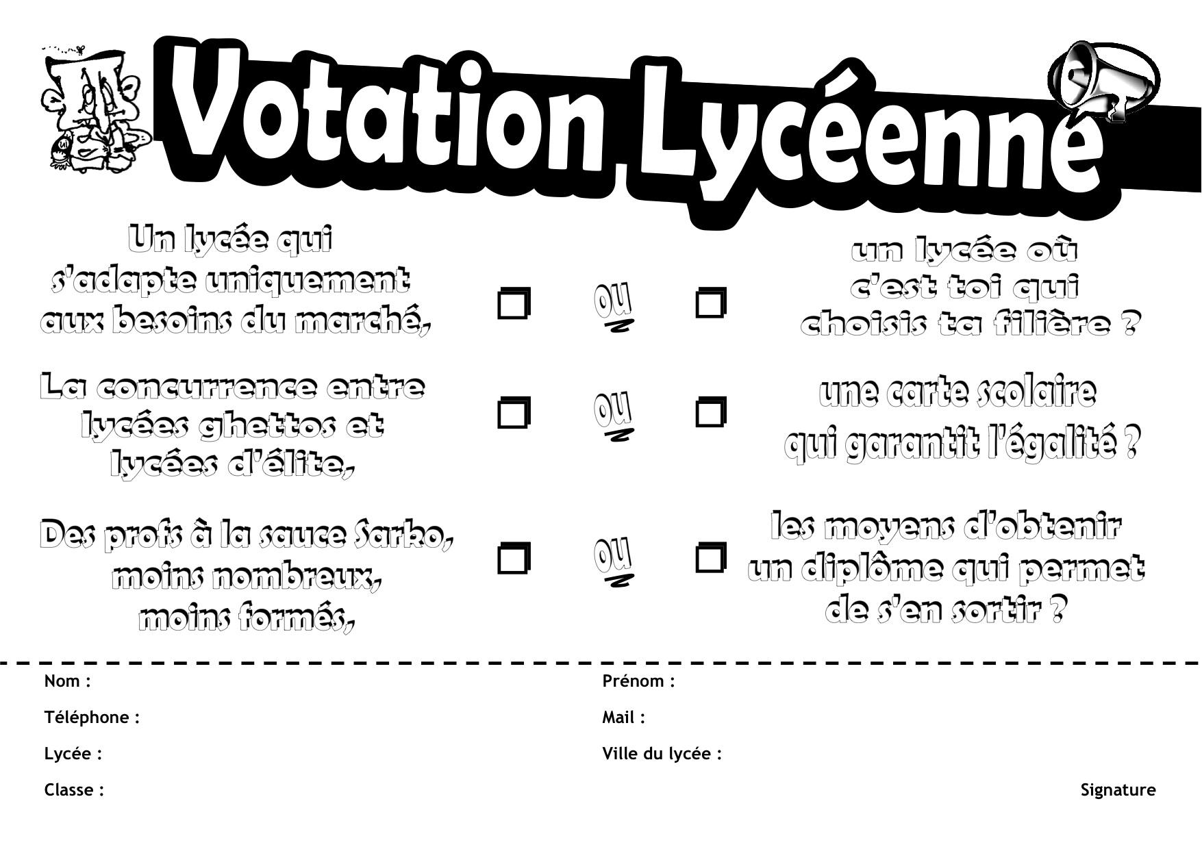 Votation lycéenne