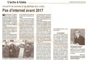 La collectif dans le Républicain d'Uzès et du Gard du 24 janvier dans Collectif éducation ru-24-janvier-collectif-lycees-leger-300x210