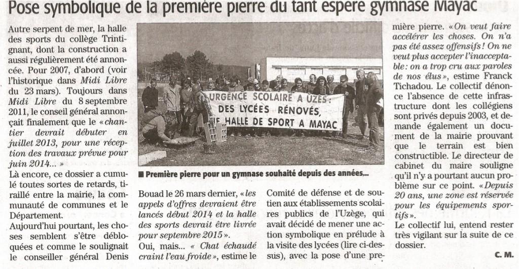 Action Halle des sports de Mayac dans le Midi Libre dans Actualités ml-action-mayac1