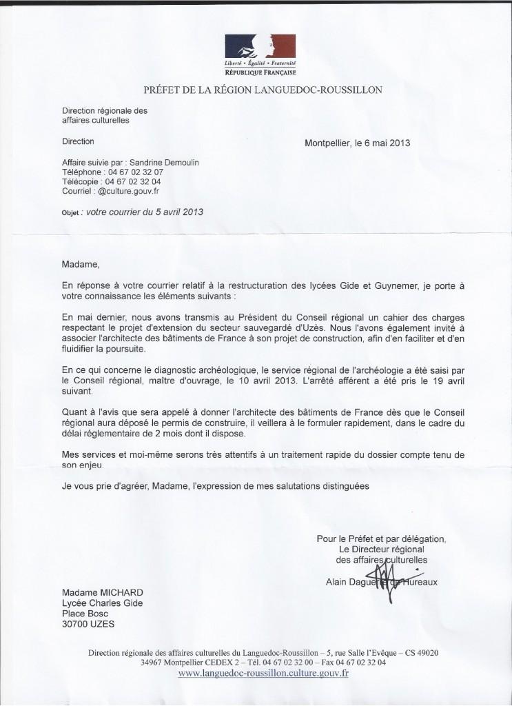 La réponse du Préfet du Gard reponse-prefet-06_05_13